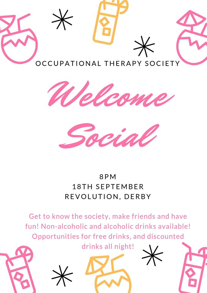 Occupational Therapy Society Welcome Party / Social!