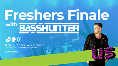 Basshunter headlines Freshers Finalé – a photo of Basshunter with the event title