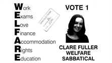 Clare Clark's campaign poster from 1999.
