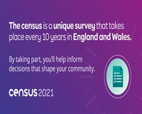 "Text that reads ""The census is a unique survey that take places every 10 years in England and Wales"""