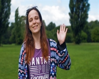 Your new Vice President (Education), Nina, standing in Markeaton Park