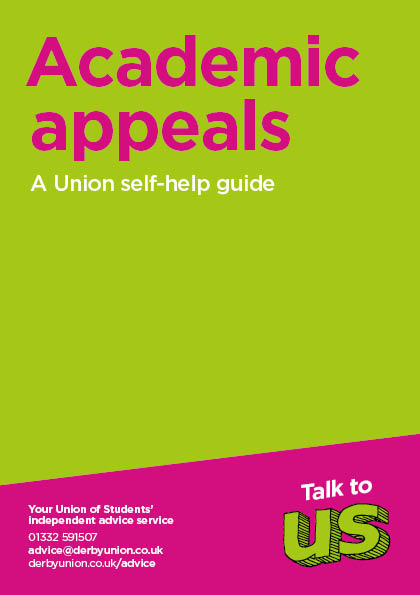 Academic Appeals Leaflet Cover