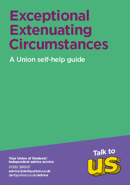 Extenuating Circumstances Leaflet Cover