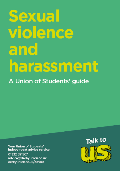 Sexual Violence and Harassment Leaflet Cover
