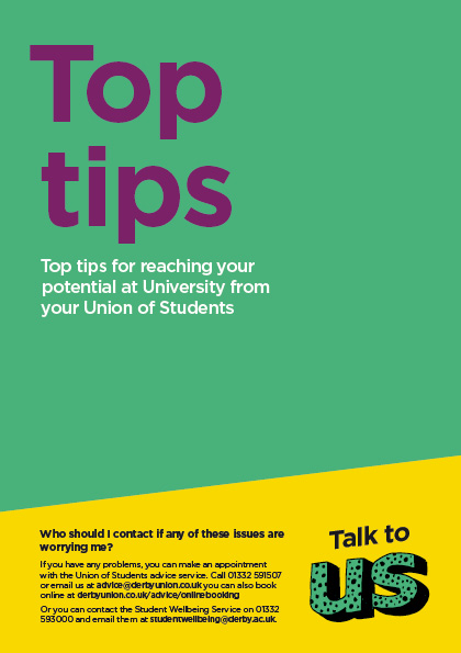 Top Tips Leaflet Cover