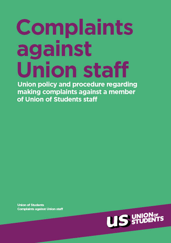 Complaints against Union staff cover